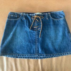 Ladies Abercrombie & Fitch jean mini skirt